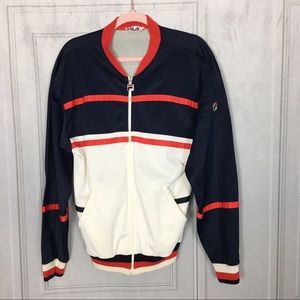 Vintage FILA Track Jacket Made in Italy Sz 42 / L